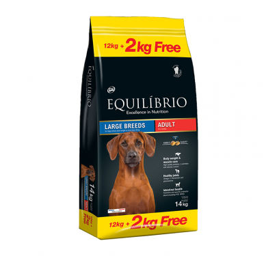 Equilibrio Adult Large Breed 12kg + 2kg ΔΩΡΟ