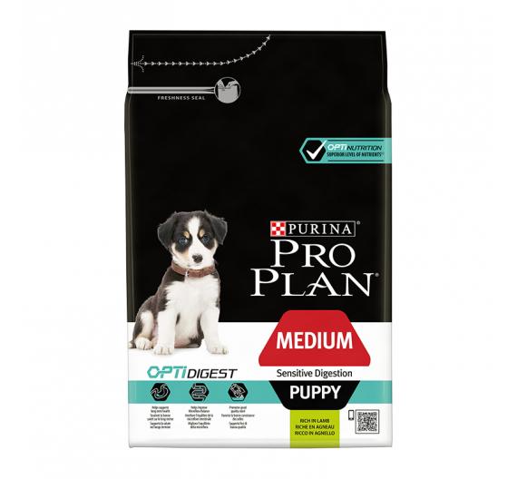 PRO PLAN Medium Puppy Sensitive Digestion Αρνί 3kg