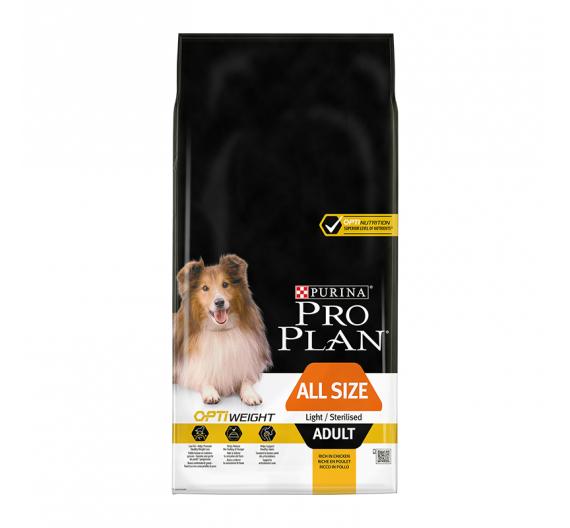 PRO PLAN All Sizes Adult Light/Sterilised Κοτόπουλο 14kg