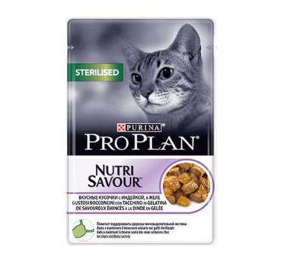 PRO PLAN Nutrisavour Sterilised Cat Γαλοπούλα σε Ζελέ 85gr