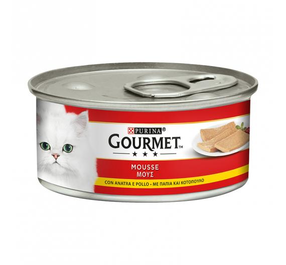 Purina Gourmet Μους Πάπια & Κοτόπουλο 195gr