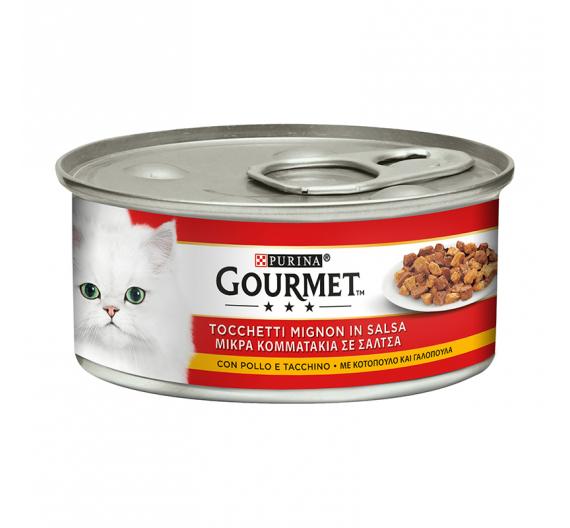 Purina Gourmet Κομμάτια σε Σάλτσα Κοτόπουλο & Γαλοπούλα 195gr