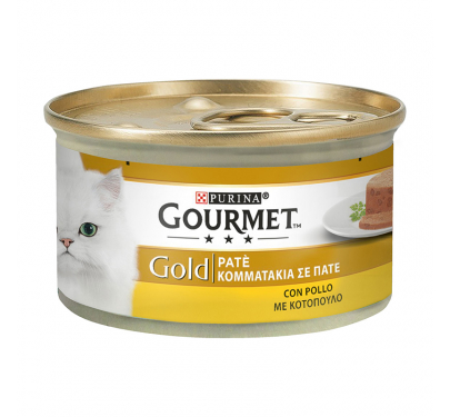 Purina Gourmet Gold Πατέ Κοτόπουλο 85gr