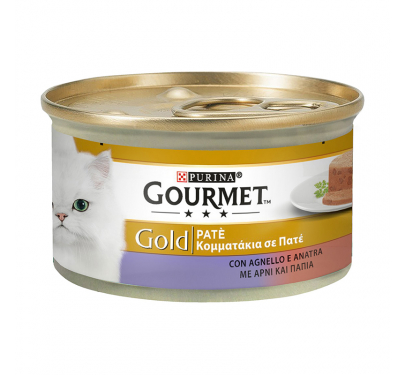 Purina Gourmet Gold Πατέ Πάπια & Αρνί 85gr