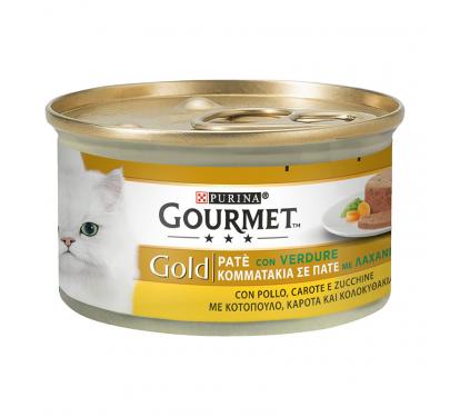 Purina Gourmet Gold Κομματάκια σε Πατέ Κοτόπουλο με Καρότα & Κολοκυθάκι 85gr