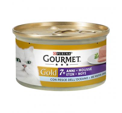 Purina Gourmet Gold Senior Mούς Ψάρια Ωκεανού 85gr