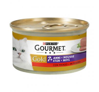 Purina Gourmet Gold Senior Mούς Βοδινο 85gr