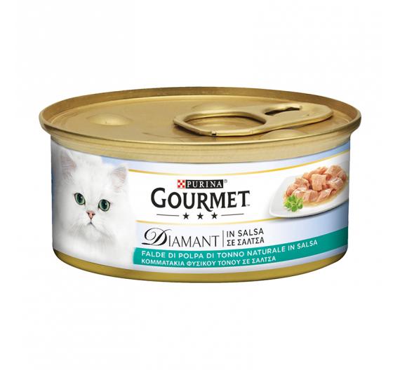 Purina Gourmet Diamnant Φιλετάκια σε Σάλτσα Tόνος 85gr
