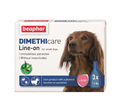 Beaphar DIMETHIcare - Line on Dog έως 15kg  (3x1.5ml)