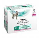 PRO PLAN Veterinary Diets Cat EN Gastrointestinal Κομματάκια σε Σάλτσα Σολομό 10x85gr