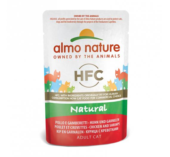 Almo Naturea Natural Φακελάκι Φιλέτο Κοτόπουλο & Γαρίδες 55gr