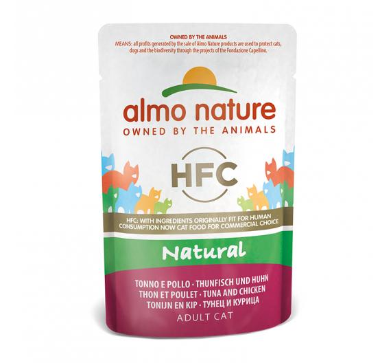 Almo Nature Natural Φακελάκι Φιλέτο Τόνος & Κοτόπουλο 55gr