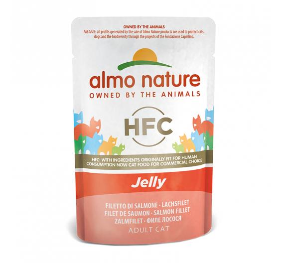 Almo Nature Φακελάκι Jelly Σολομός 55gr