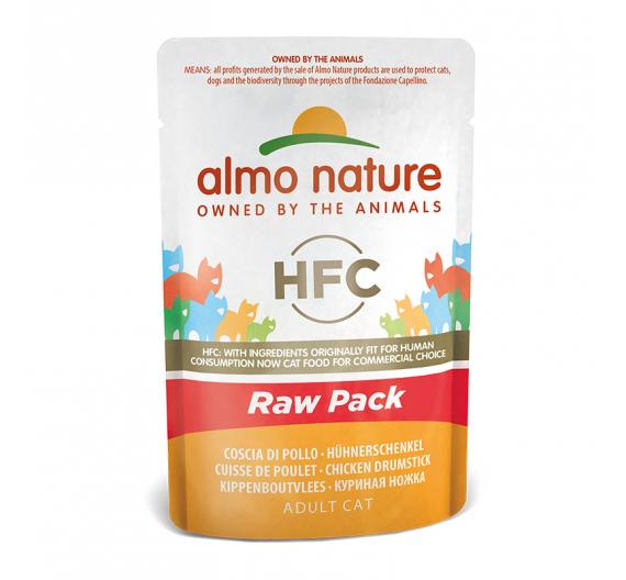 Almo Nature Raw Φακελάκι Μπούτι Κοτόπουλο 55gr