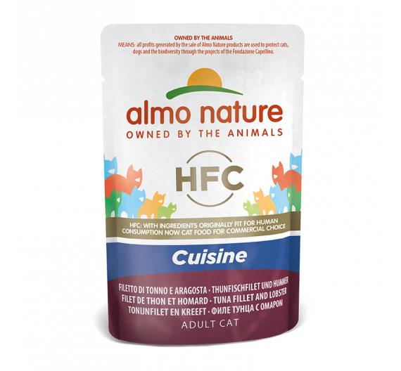 Almo Nature Cuisine Φακελάκι Φιλέτο Τόνος & Αστακός 55gr
