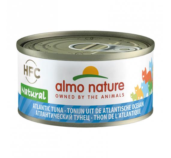 Almo Nature Natural Κονσέρβα Φιλετάκια Τόνος Ατλαντικού 70gr
