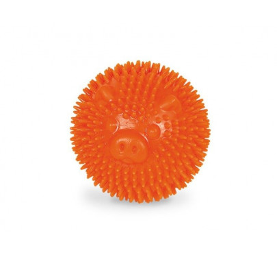 Nobby Tpr Rubber Spiky Ball Pig Orange