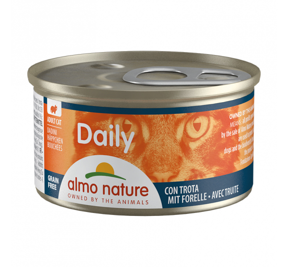 Almo Nature Daily Κονσέρβα Κομματάκια Πέστροφα 85gr