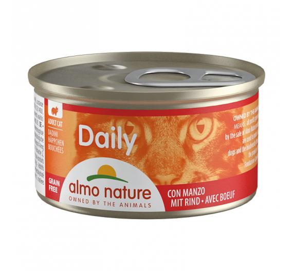 Almo Nature Daily Κονσέρβα Κομματάκια Μοσχάρι 85gr