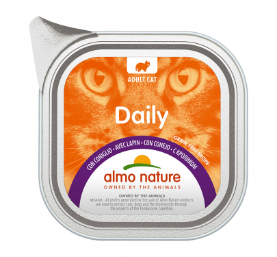 Almo Nature Daily Κονσέρβα Πατέ Κουνέλι 100gr