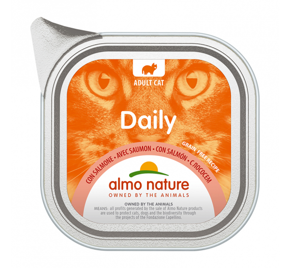 Almo Nature Daily Κονσέρβα Πατέ Σολομός 100gr