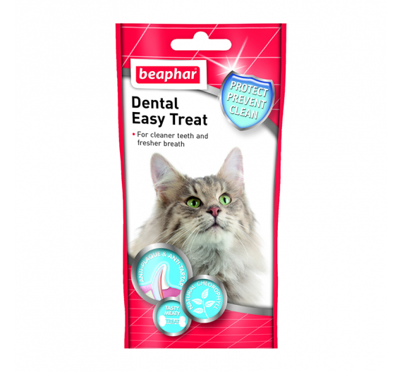 Beaphar Dental Easy Treat Cat Οδοντικό Γεμιστό Snack με Χλωροφύλλη 35gr