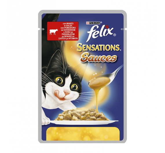 Felix Sensations Βοδινό & Ντομάτα 100gr