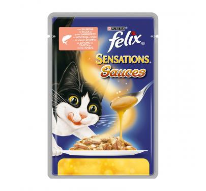 Felix Sensations Sauces Σόλομος σε Σάλτσα με Γαρίδα 100gr