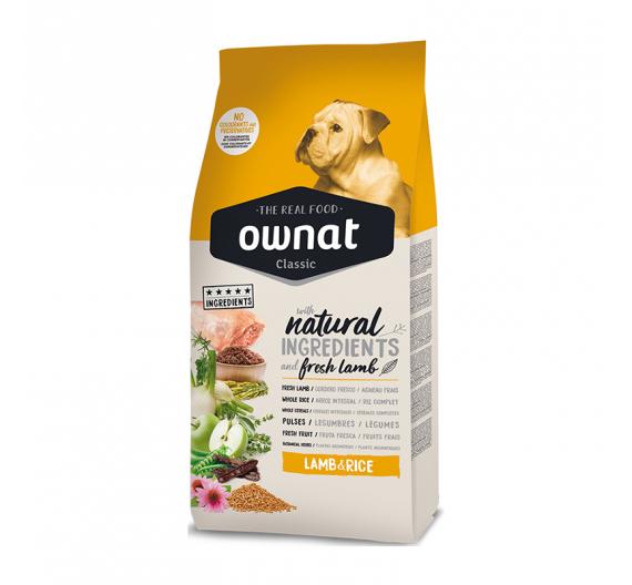 Ownat Classic Dog Lamb & Rice 20kg