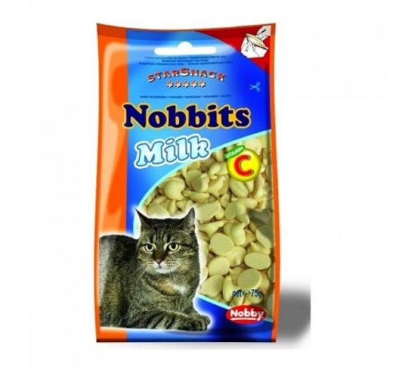 Nobby Cat Snack Nobbits με Γάλα
