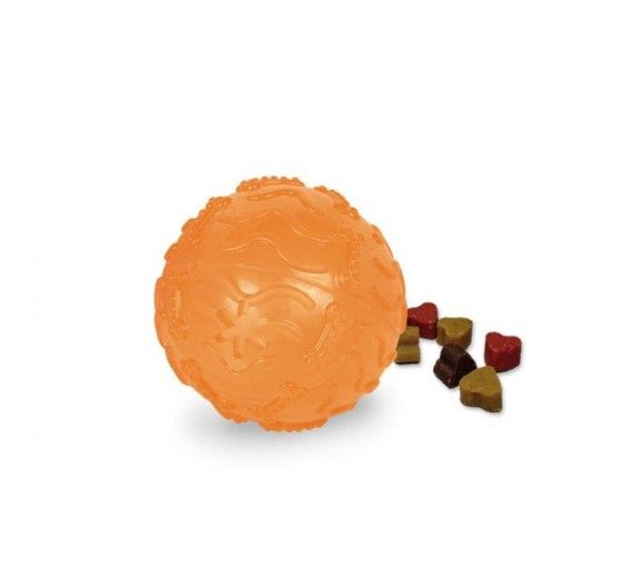 Nobby Tpr Rubber Treat Ball Orange