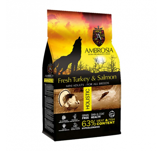 Ambrosia Grain Free Adult Mini Turkey & Salmon 6kg