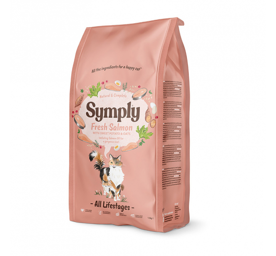 Symply Fresh Salmon All Lifestages Cat 375gr