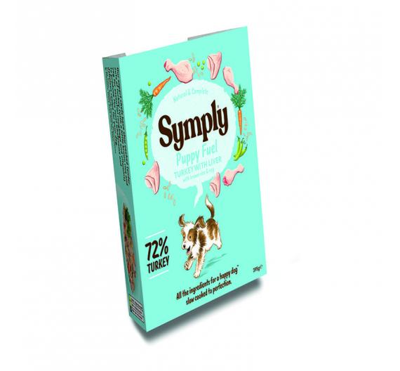Symply Tray Puppy Fuel Turkey & Liver 395gr