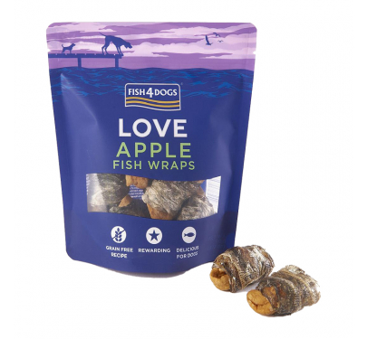 Fish4Dogs Love Apple Sea Wraps 90gr