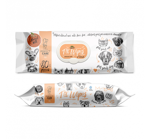 Perfect Care Wet Wipes Almond Milk 80τμχ