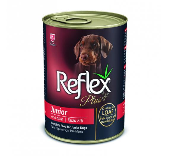 Reflex Plus Dog Junior Κομματάκια Αρνί σε Σάλτσα 400gr