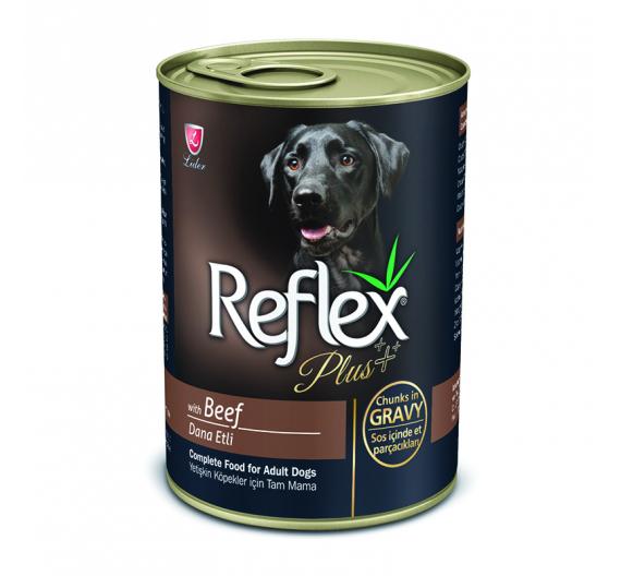 Reflex Plus Dog Κομματάκια Βοδινό σε Σάλτσα 400gr