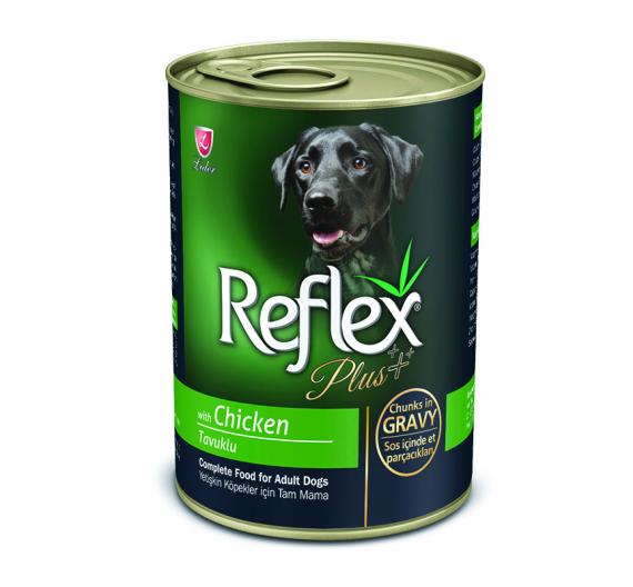 Reflex Plus Dog Κομματάκια Κοτόπουλο σε Σάλτσα 400gr