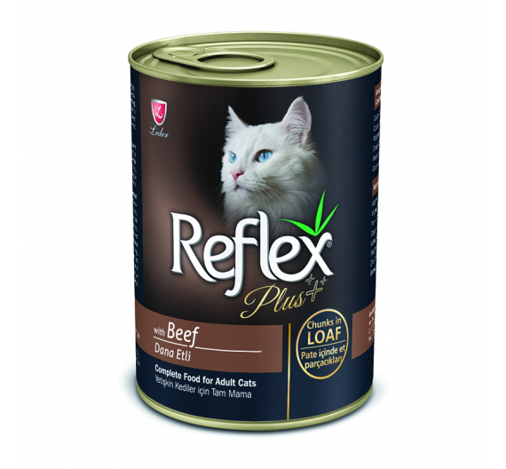 Reflex Plus Cat Κομματάκια Βοδινό σε Πατέ 400gr