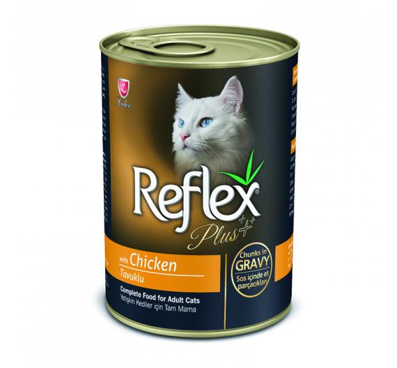 Reflex Plus Cat Κομματάκια Κοτόπουλο σε Σάλτσα 400gr