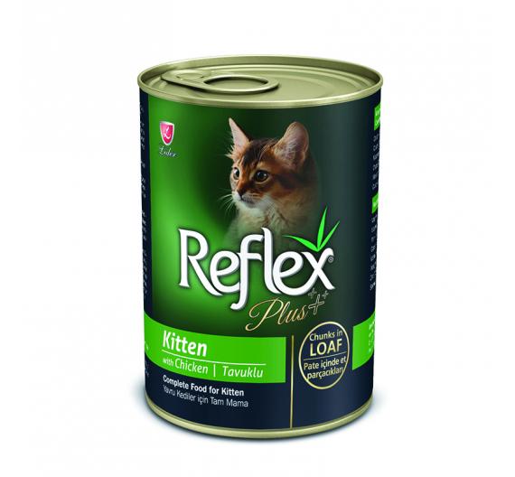 Reflex Plus Kitten Κομματάκια Κοτόπουλο σε Πατέ 400gr