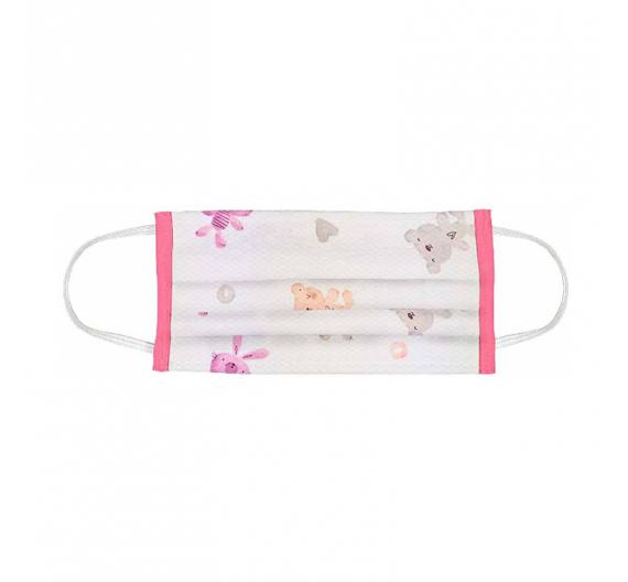 Παιδική Μάσκα Προστασίας Υφασμάτινη Indigo Child Pichi Pink