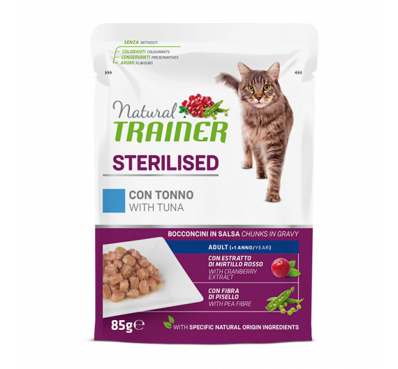 Natural Trainer Cat Sterilised Τόνος 85gr