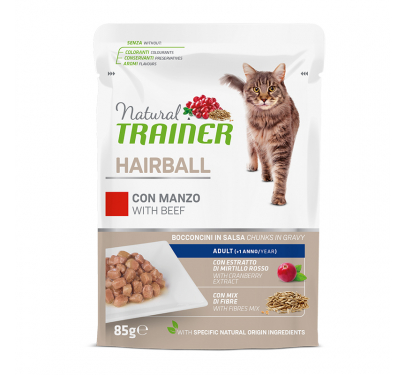 Natural Trainer Cat Hairball Βοδινό 85gr