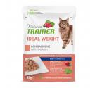 Natural Trainer Cat Ideal Weight Σολομός 85gr