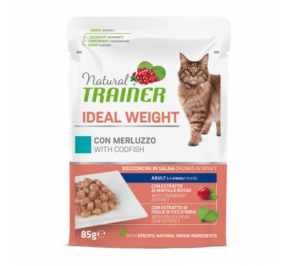 Natural Trainer Cat Ideal Weight Μπακαλιάρος 85gr