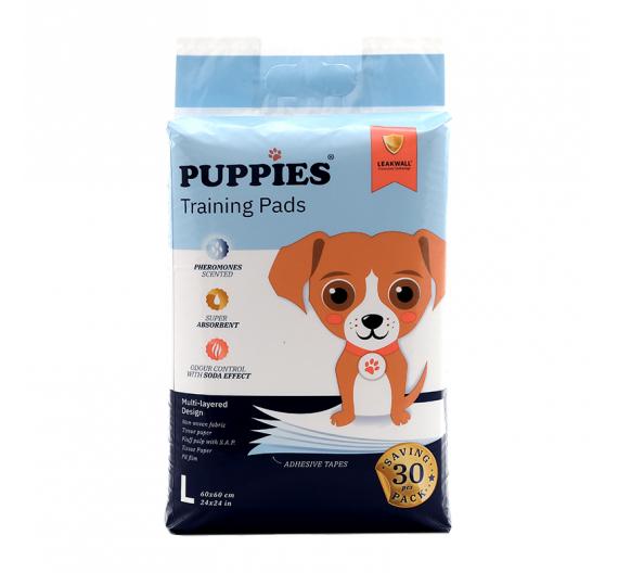 Puppies Εκπαιδευτικές Πάνες 60x60cm Economy Pack 30τμχ