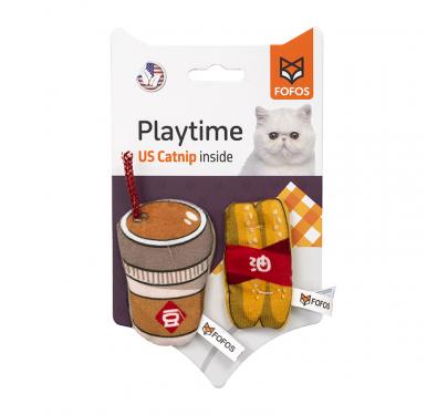 FoFos Παιχνίδι Γάτας Soybean Milk &  Fried Dough Sticks  (2 τμχ)