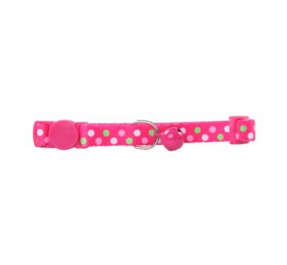 Pawise Περιλαίμιο Με Κουδουνάκι Polka Dots Ροζ 30cm